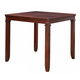 Standard Furniture Dallas Counter Height Table with  Chairs Set in Brown Cherry Finish 12212