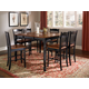 A-America British Isles 7pc Counter Height Dining Set in Oak/Black
