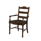 Fine Furniture Summer Home LadderBack Arm Chair in Lodge (Set of 2) 1050-827