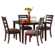 Standard Furniture Sparkle Leg Table with Chairs Set in Brown Cherry Finish 13166