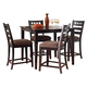 Standard Furniture Sparkle Counter Height Table with Stool Set in Brown Cherry Finish 13176