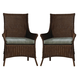 Fine Furniture Summer Home Cottage Wicker Arm Chair in Lodge (Set of 2) 3222-03-1050-134