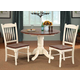 A-America British Isles 5pc Dropleaf Dining Set in Merlot/Buttermilk