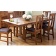 A-America Cattail Bungalow Trestle Table in Amber CATAM6300