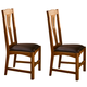 A-America Cattail Bungalow Comfort Side Chair in Amber (Set of 2) CATAM267K