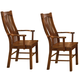 A-America Laurelhurst Slatback Arm Chair in Mission Oak (Set of 2) LAUOA276K