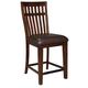Standard Furniture Artisan Loft Upholstered Counter Stool in Warm Oak (Set of 2) 13634