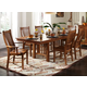A-America Laurelhurst Trestle Dining Set in Mission Oak
