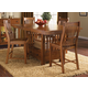 A-America Laurelhurst Gathering Height Dining Set in Mission Oak