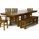A-America Laurelhurst Trestle Dining Table in Rustic Oak LAURO6320