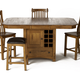 A-America Laurelhurst Gather Height Dining Table w/ Wine Storage in Rustic Oak LAURO6770