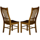 A-America Laurelhurst Slatback Side Chair in Rustic Oak (Set of 2) LAURO275K