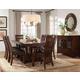 Standard Furniture Artisan Loft 9 Piece Rectangle Trestle Dining Set in Warm Oak