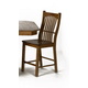 A-America Laurelhurst Slatback Barstool in Rustic Oak (Set of 2) LAURO375K