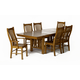 A-America Laurelhurst Trestle Dining Set in Rustic Oak
