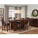Standard Furniture Artisan Loft 7 Piece Counter Height Dining Set in Warm Oak