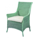 Fine Furniture Summer Home Cottage Wicker Arm Chair in Sky 3222-03-1053-134