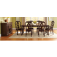 Standard Furniture Westchester 7 Piece Rectangular Leg Dining Set in Rich Cherry