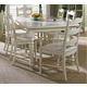 Fine Furniture Summer Home 7pc Rectangular Dining Table with LadderBack Chairs Dining Room Set 1051