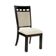 Standard Furniture Gateway White Upholstered Side Chair (Set of 2) in Dark Chicory Brown 17464