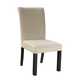 Standard Furniture Gateway White Parsons Upholstered Chair (Set of 2) in Dark Chicory Brown 17467