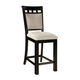 Standard Furniture Gateway White Upholstered Barstool (Set of 2) in Dark Chicory Brown 17474