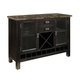 Standard Furniture Gateway Grey Server in Dark Chicory Brown 18262