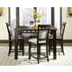 Standard Furniture Gateway Grey 6-Piece Counter Height Dining Set in Dark Chicory Brown