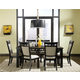 Standard Furniture Gateway Grey 7 Piece Rectangle Table Dining Set in Dark Chicory Brown