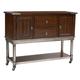 Standard Furniture Hudson Sideboard in Rustic Dark Cherry 13222