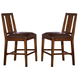 A-America Mesa Rustica Slatback Counter Stool in Aged Mahogany (Set of 2) MESAM365K
