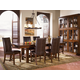 A-America Mesa Rustica Trestle Dining Set in Aged Mahogany