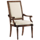 Pulaski Accentrics Home Nimes Arm Chair (Set of 2) in Distressed Brown 205043