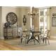 Magnussen Furniture Walton 5Pc Round Dining Set in Natural Aged Dry-Wood