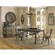 Magnussen Furniture Walton 5pc Rectangular Dining Set in Natural Aged Dry-Wood