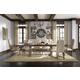 Pulaski Accentrics Home 7 Piece Desdemona Rectangular Dining Set in Aged Patina