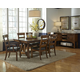 A-America Ozark 7pc Trestle Dining Set in Mango