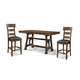 A-America Ozark 5pc Gathering Height Trestle Dining Set in Mango CODE:UNIV20 for 20% Off