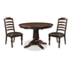 A-America Phinney Ridge 5pc Round Pedestal Dining Set in Mink