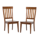 A-America Toluca Slat Back Side Chair in Rustic Amber (Set of 2) TOLRA235K