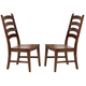 A-America Toluca Ladder Back Side Chair in Rustic Amber (Set of 2) TOLRA275K