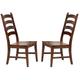 A-America Toluca Ladder Back Side Chair in Rustic Amber (Set of 2) TOLRA275K