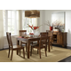 A-America Toluca 5pc Vers-A-Table Dining Set in Rustic Amber