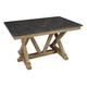 A-America West Valley Trestle Dining Table in Rustic Wheat WVARW6300