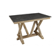 A-America West Valley Trestle Gathering Height Dining Table in Rustic Wheat WVARW6700