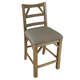 A-America West Valley Ladder Back Counter Stool in Rustic Wheat (Set of 2) WVARW345K