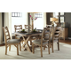 A-America West Valley 7pc Trestle Dining Set in Rustic Wheat