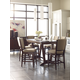Kincaid Furniture Solid Wood Elise 7pc Counter Leg Dining Set in Amaretto Finish