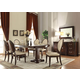 Acme Furniture Balint 7 Piece Pedestal Dining Set in Cherry