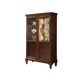 Acme Furniture Dallin Curio Cabinet in Cherry 90105